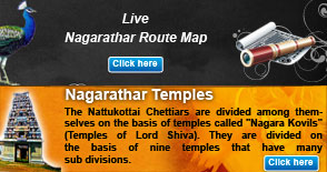 Live Nagarathar Route Map & Nagarathar temple